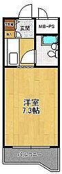 ジョイフル武庫之荘1[222号室]の間取り