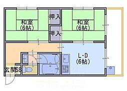 北ノ口安田マンション[3階]の間取り