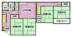 [一戸建] 広島県広島市安佐南区東原1丁目 の賃貸【/】の間取り