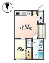 コレクション黒川[3階]の間取り