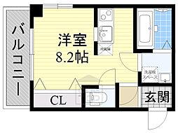 クライス横堤2階Fの間取り画像