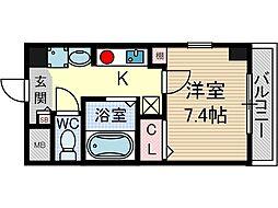 クオーレ茨木元町[5階]の間取り