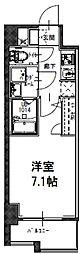 S-RESIDENCE大阪九条North 8階1Kの間取り