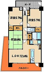 プレステージ明石松江海岸[2階]の間取り