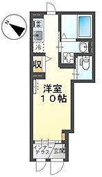 JR横浜線 町田駅 徒歩9分の賃貸アパート 1階ワンルームの間取り