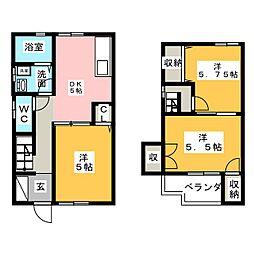 [テラスハウス] 静岡県静岡市清水区高橋5丁目 の賃貸【/】の間取り