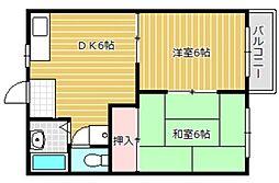 静岡県静岡市葵区山崎1丁目の賃貸アパートの間取り