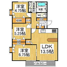 メゾン若宮D棟[2階]の間取り