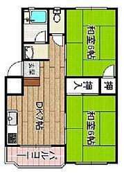 北島マンション[103号室]の間取り
