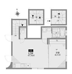 都営新宿線 曙橋駅 徒歩3分の賃貸アパート 3階1LDKの間取り