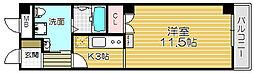 Osaka Metro谷町線 太子橋今市駅 徒歩2分の賃貸マンション 1階1Kの間取り