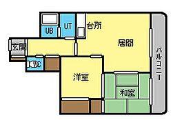 サンシャイン円山[9階]の間取り