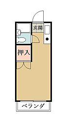 埼玉県草加市八幡町の賃貸マンションの間取り