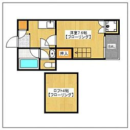 レジェンド神松寺[1階]の間取り