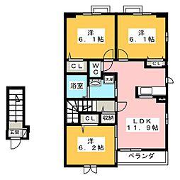 フェリーチェ I[2階]の間取り