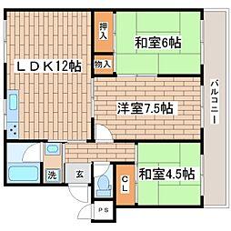 兵庫県神戸市須磨区竜が台6丁目の賃貸マンションの間取り