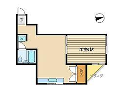 東京都杉並区西荻南3丁目の賃貸マンションの間取り
