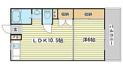 長田コーポ[206号室]の間取り