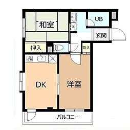 ガーデンシティ新松戸[2階]の間取り