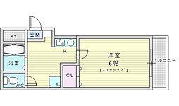 北大阪急行電鉄 桃山台駅 徒歩13分の賃貸アパート 1階1Kの間取り