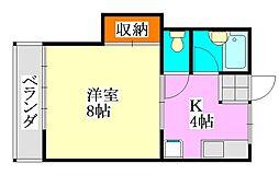 ハイツトキワ[102号室]の間取り