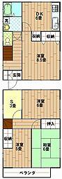 [一戸建] 神奈川県横須賀市西浦賀5丁目 の賃貸【/】の間取り