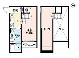 レ マーユ 今宿[2階]の間取り