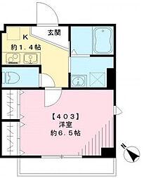東京都豊島区池袋3丁目の賃貸マンションの間取り