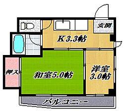 田邉ハイツ[305号室号室]の間取り