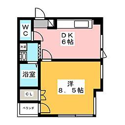 檀渓ハートビル[5階]の間取り
