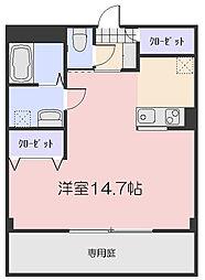 岡山県岡山市北区今4丁目の賃貸マンションの間取り