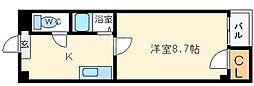 ベルフレージュ北堀江[5階]の間取り
