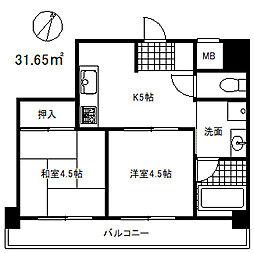 グランメゾン神戸[7階]の間取り