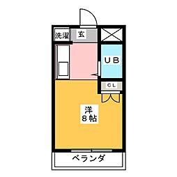 シャトー栄[6階]の間取り