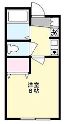 フェリーチェ生田[1階]の間取り