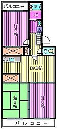 フローラ盆栽町[3階]の間取り