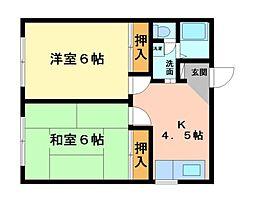 松本グリーンコーポ[3階]の間取り
