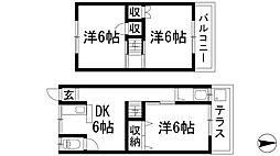 [テラスハウス] 兵庫県川西市平野2丁目 の賃貸【/】の間取り