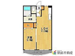 パークマンション山浦[1階]の間取り
