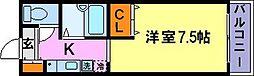 兵庫県神戸市須磨区稲葉町7丁目の賃貸アパートの間取り
