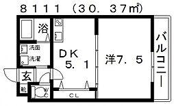 ステラウッド清州[205号室号室]の間取り