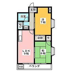 フジマンション[5階]の間取り