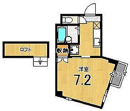 メゾン徳大寺[402号室]の間取り