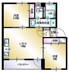 多賀台ヒルズマンションC棟[107号室]の間取り