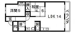 高井田ランプハウス[401号室号室]の間取り