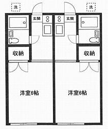 ホワイトハイツ[1階]の間取り