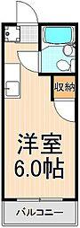 ツジハイムII[101号室]の間取り