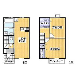セタンドールA[1階]の間取り