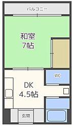 内山マンション[6階]の間取り