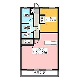 春日井駅南ハイツ[2階]の間取り